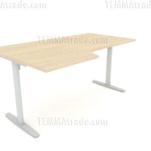 Radni sto sa zakrivljenom radnom pločom  AMPZRP0161