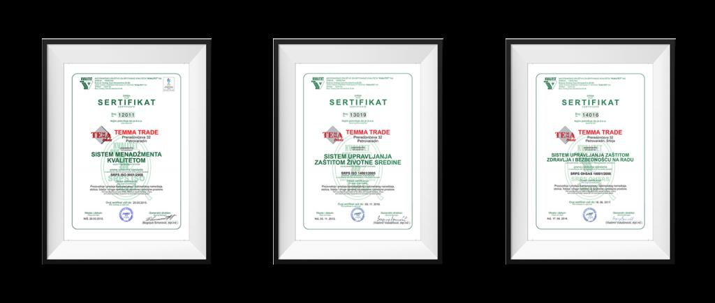 TEMMA samo sertifikati